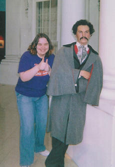 Kait + Creepy John Wilkes Booth (sorry, these are scanned in from Early Internet Days and we don't know where the originals are to re-scan)