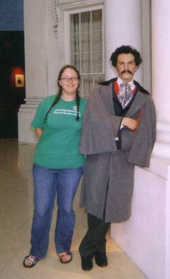 Renata + Creepy John Wilkes Booth (sorry, these are scanned in from Early Internet Days and we don't know where the originals are to re-scan)