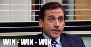 Michael Scott Win-Win-Win