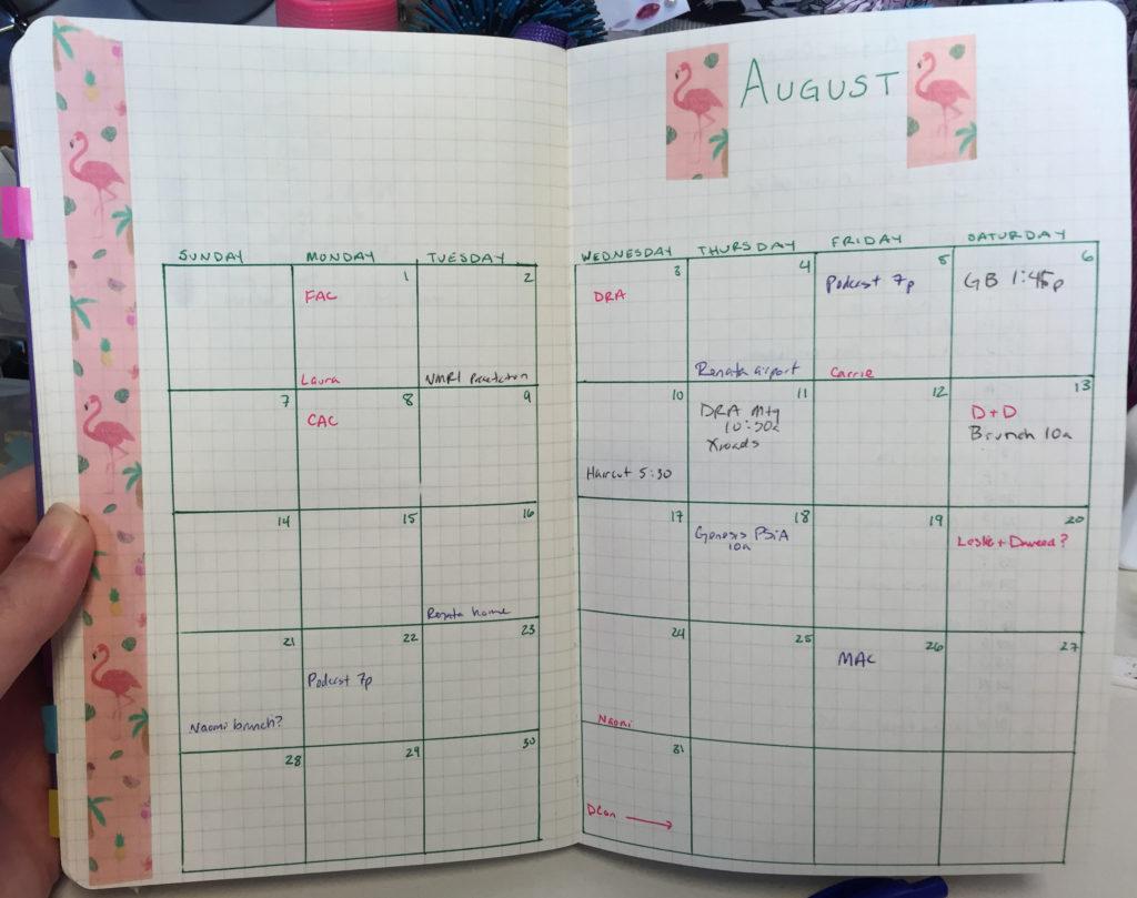 kait's august calendar