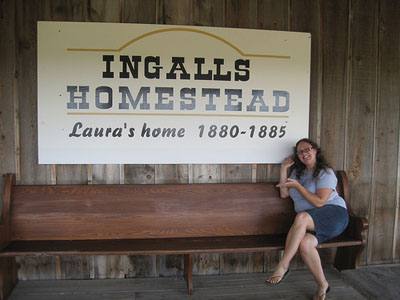 me at the Laura Ingalls Wilder family homestead in De Smet, South Dakota