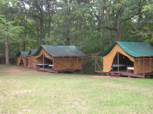 The Camp I Attended And Worked At. NO CABINS. CABINS ARE FOR SISSES.