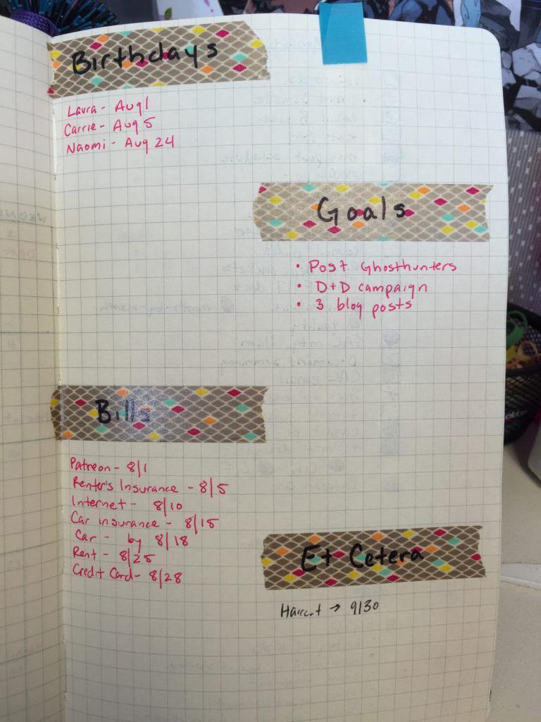 kait's august goals